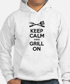 Keep Calm Grill On Hoodie