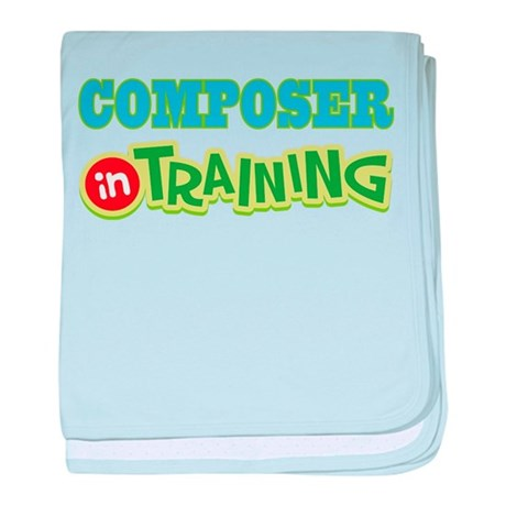 Composer in Training baby blanket