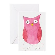 Pink Owl Greeting Cards (Pk of 10)