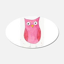 Pink Owl Wall Sticker