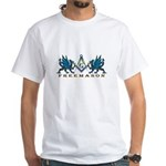 Dragons guarding the Square and Compasses White T