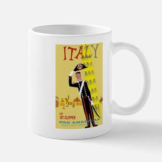 Tower of Pisa, Italy, Travel, Vintage Poster Mug