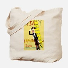 Tower of Pisa, Italy, Travel, Vintage Poster Tote