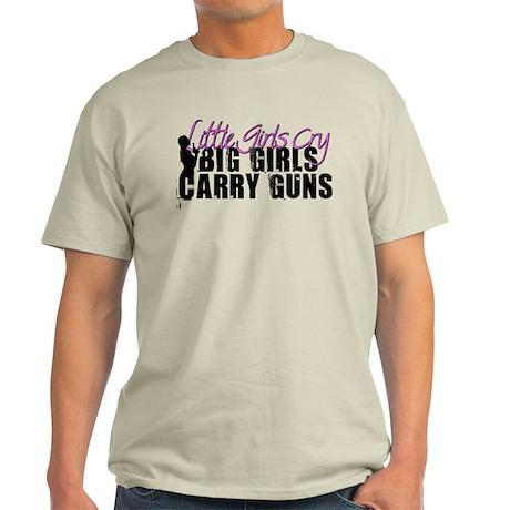 Big Girls Carry Guns Light T-Shirt