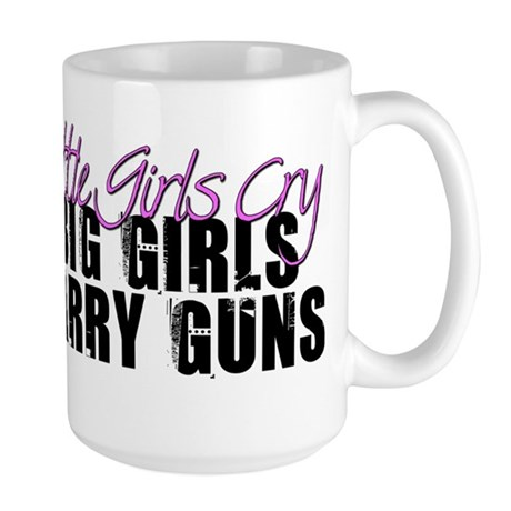 Big Girls Carry Guns Large Mug