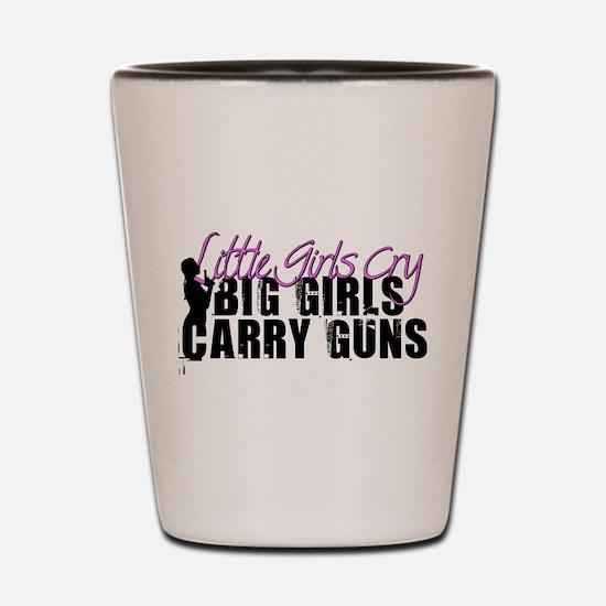 Big Girls Carry Guns Shot Glass