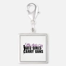Big Girls Carry Guns Silver Square Charm