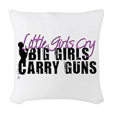 Big Girls Carry Guns Woven Throw Pillow