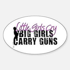 Big Girls Carry Guns Sticker (Oval)
