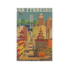 San Francisco, Travel, Vintage Poster Rectangle Ma