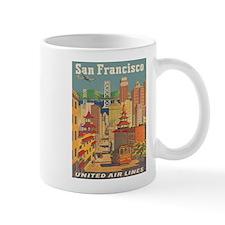 San Francisco, Travel, Vintage Poster Mug