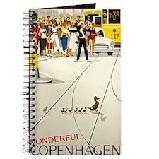 Copenhagen, Ducks, Travel, Vintage Poster Journal