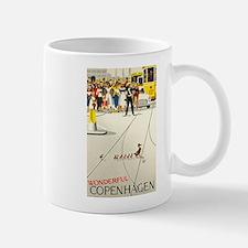 Copenhagen, Ducks, Travel, Vintage Poster Mug
