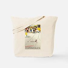Copenhagen, Ducks, Travel, Vintage Poster Tote Bag