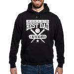 World's Best Dad Ever Baseball Hoodie (dark)