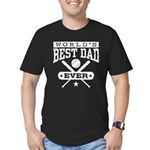 World's Best Dad Ever Baseball Men's Fitted T-Shir