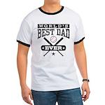 World's Best Dad Ever Baseball Ringer T