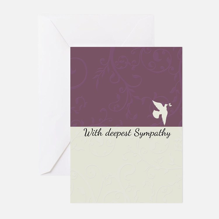 Blank Sympathy card with dove, deepest (Pk of 10)