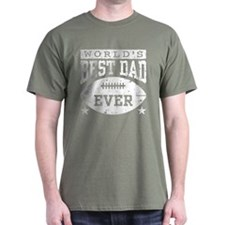 World's Best Dad Ever Football T-Shirt