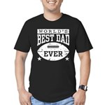 World's Best Dad Ever Football Men's Fitted T-Shir