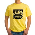 World's Best Dad Ever Football Yellow T-Shirt
