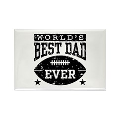 World's Best Dad Ever Football Rectangle Magnet