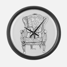 Westie Chairmen Large Wall Clock