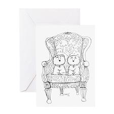 Westie Chairmen Greeting Card