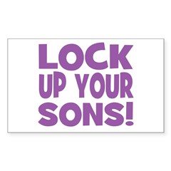 Lock Up Your Sons! Purple Rectangle Decal