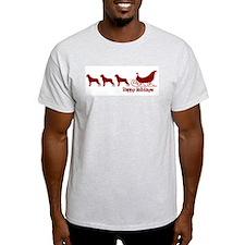 """Rottweiler """"Sleigh"""" Ash Grey T-Shirt"""