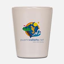 PuertoVallarta.net Logo Shot Glass