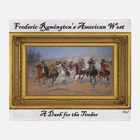 A Dash for the Timber - Frederic Remington Throw B