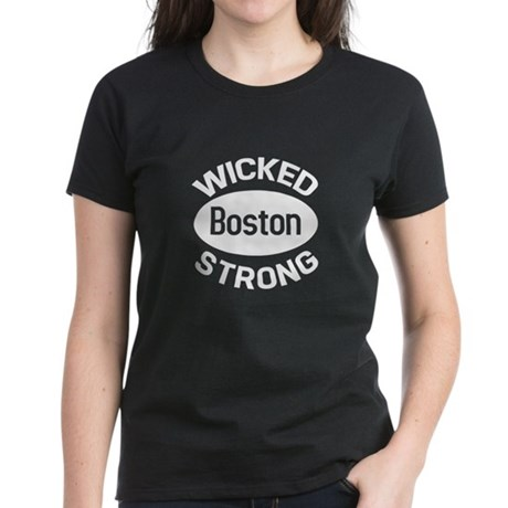 White Boston Wicked Strong T-Shirt