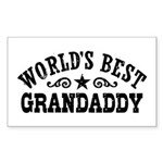 World's Best Grandaddy Sticker (Rectangle)