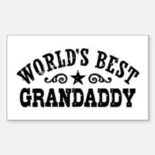 World's Best Grandaddy Sticker (Rectangle)