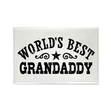 World's Best Grandaddy Rectangle Magnet