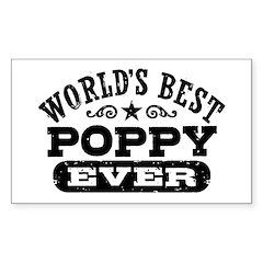 World's Best Poppy Ever Decal