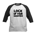 Lock Up Your Daughters! Black Kids Baseball Jersey