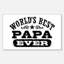 World's Best Papa Ever Sticker (Rectangle)