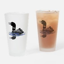 Calling Loon Drinking Glass