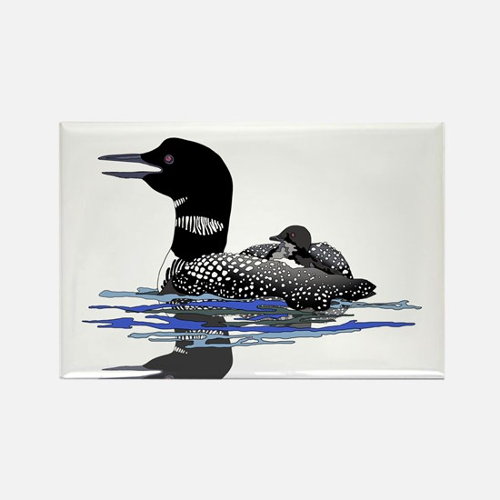 Calling Loon Rectangle Magnet (100 pack)
