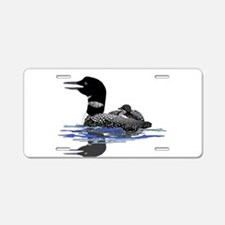 Calling Loon Aluminum License Plate