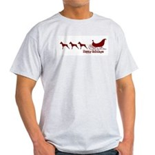 "MinPin ""Sleigh"" Ash Grey T-Shirt"