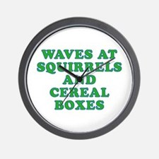 Waves at Squirrels and Cereal Boxes Wall Clock