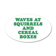 Waves at Squirrels and Cereal Boxes Wall Decal
