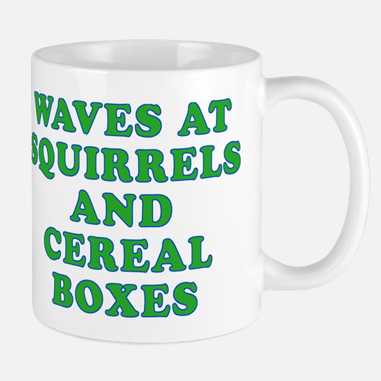 Waves at Squirrels and Cereal Boxes Mug