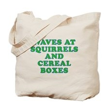 Waves at Squirrels and Cereal Boxes Tote Bag