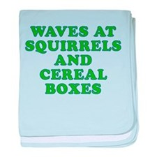 Waves at Squirrels and Cereal Boxes baby blanket