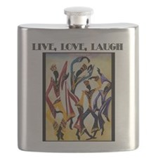 Live, Love, Laugh .png Flask