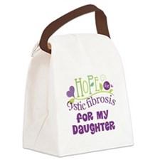Daughter Cystic Fibrosis Hope Canvas Lunch Bag